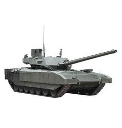 Modern russian tank armata vector
