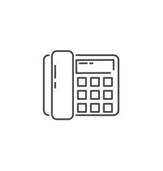 Office phone related line icon vector