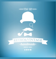 Old retro vintage grunge label - premium quality vector