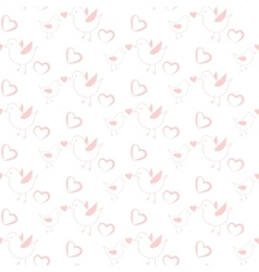 Pastel pink bird seamless pattern for kids and vector image