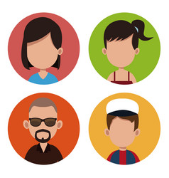 people community casual together vector image