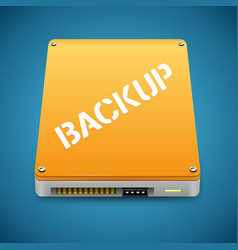 Portable Data Backup Hard Disc Drive Icon vector