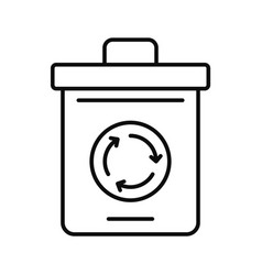 Recycling pot icon outline style vector