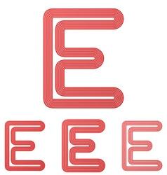 Red letter e logo design set vector image
