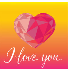 Romantic background i love you with colorful vector