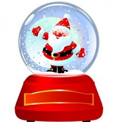 Santa in snow globe vector image