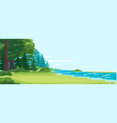 Scenic place for outdoor recreation vector
