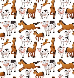 Seamless cow and horse vector