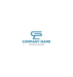 Simple eg logo design vector