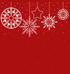 simple graphic for christmas decoration vector image