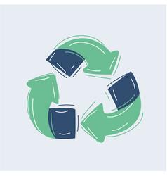 sketch doodle recycle reuse symbol vector image