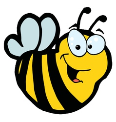 Smiling Bee vector image vector image