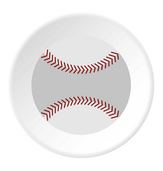 Softball ball icon circle vector