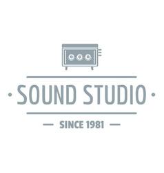 speaker sound studio logo simple gray style vector image