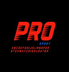 Sport style modern font alphabet letters vector