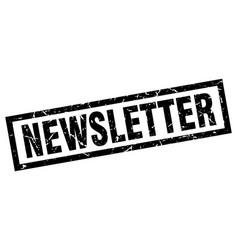 Square grunge black newsletter stamp vector
