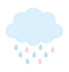 storm cloud rain drops weather design icon vector image