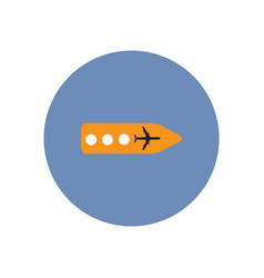 Stylish icon in color circle airport signage vector