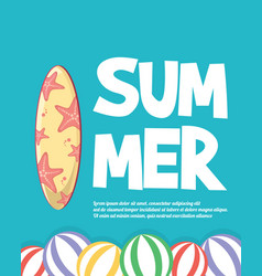 summer holiday concept tropical vacation vector image