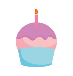 sweet cupcake icon vector image