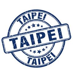 Taipei blue grunge round vintage rubber stamp vector