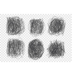 tangled scribbles set vector image