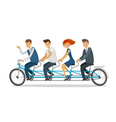 Teamwork concept business people or students vector