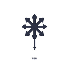 Ten icon on white background simple element from vector