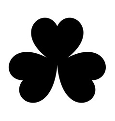 the clover black color icon vector image