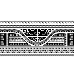 Tribal sleeve design with maori style elements vector