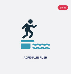 Two color adrenalin rush icon from sauna concept vector