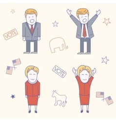 USA election candidates characters vector