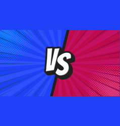 versus vs letters fight backgrounds in flat vector image