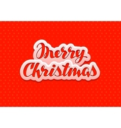 Vintage Merry Christmas red banner vector