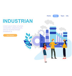 web page design templates for industry teamwork vector image