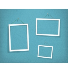White frames on the textured wall vector image