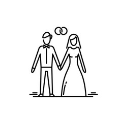 young couple in love man and woman marriage vector image