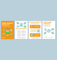 Zero waste products brochure template layout vector