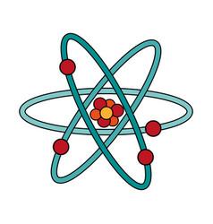 atom flat vector image