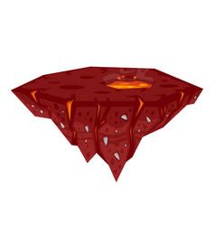 game lava island vector image