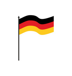 germany flag cartoon style isolated on white vector image vector image