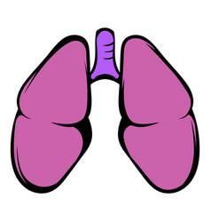human lungs icon icon cartoon vector image