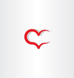 love icon symbol heart red sign element vector image vector image