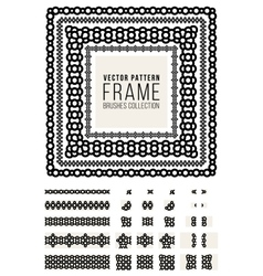 Ornamental Decorative Frame Rounded Lines vector image