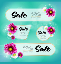 spring sale banners vector image vector image