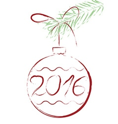 2016 bauble vector image vector image