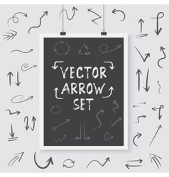 Arrow Set Poster on a Wall Handdrawn vector image