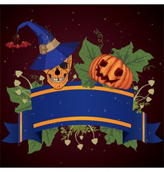 halloween with skull vector image