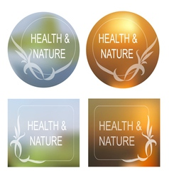 Health and Nature background Decorative Frame Set vector image vector image