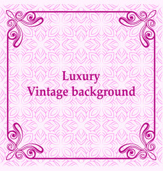 Luxury ornamental background vector